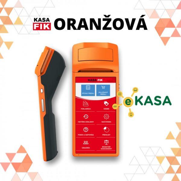 Registračná pokladňa Kasa Fik Oranžová mobilná eKasa