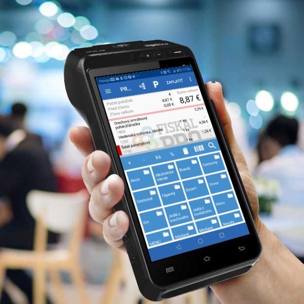 Registračná pokladňa FiskalPRO A8 mobilná eKasa