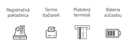 Registračná pokladňa FiskalPRO VX675 mobilná eKasa parametre